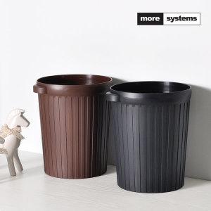 휴지통 12L/사무실용 화장실용 쓰레기통 브라운 블랙