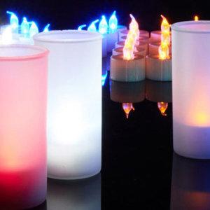 LED 촛불 양초 컵라이트 캔들