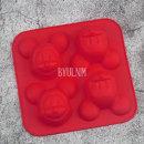 미키 마우스 몰드 4구 비누 석고방향제 만들기 실리콘