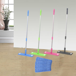 은색봉 밀대 + 컷팅4장 청소기 밀대걸레 청소용품