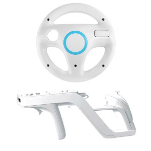 닌텐도 Wii 레이싱휠+재퍼건 /Wii 핸들+Wii 재퍼건