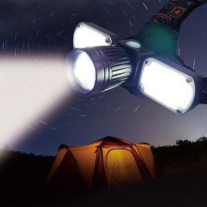 3구 LED 프리미엄 줌헤드랜턴 휴대용 충전지형 램프