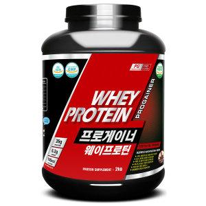 프로게이너 웨이프로틴 2kg_초코 단백질보충제