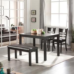 인기판매 모던 4인용 식탁세트 (의자포함) 902672 벤치