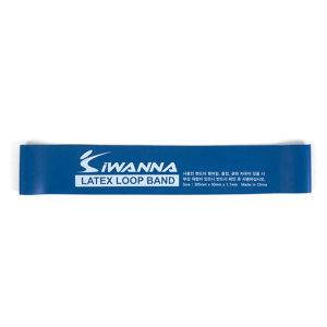 IW_라텍스루프밴드_블루1.1mm/가벼운 탄성저항 밴드