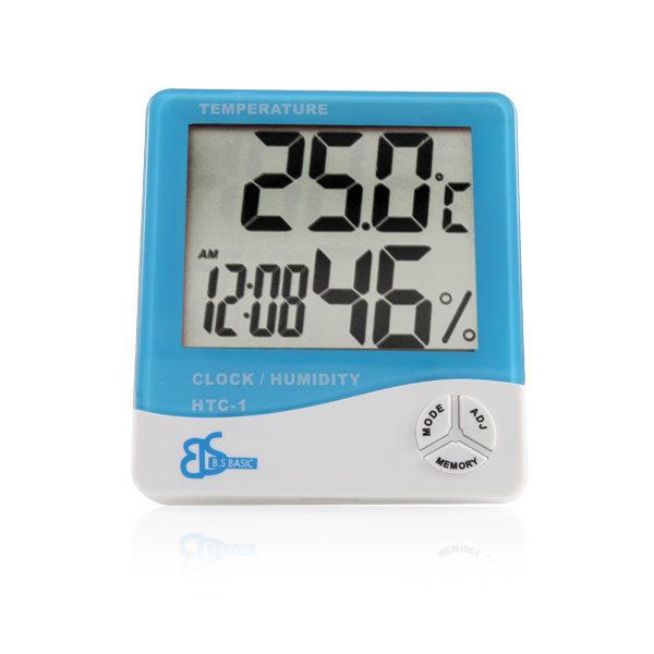 디지털 온습도계 HTC-1 블루 / 온도계 습도계 시계
