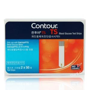 컨투어TS 혈당측정지 검사지 100매 (2022년 04월)