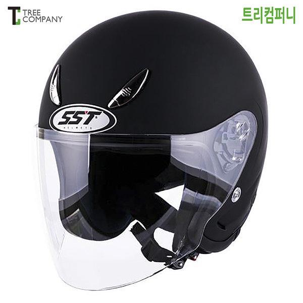 SST 체어맨 오토바이헬멧 무광블랙 바이크 오픈페이스