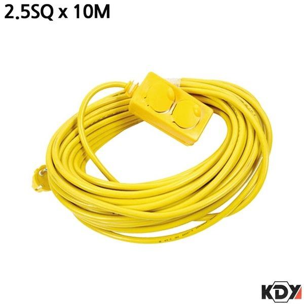 KDY 고용량 전기연장선 2구 2.5SQ 10M 전력연장케이블