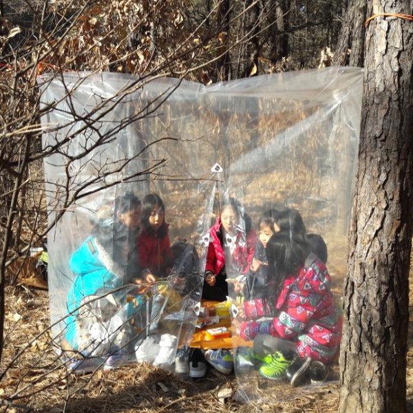 등산 비닐 쉘터 텐트 천막 비박 캠핑 3-4인용(스페셜)