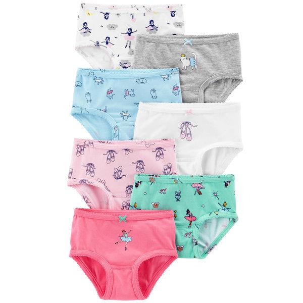 아동팬티 발레리나 7종세트 유아속옷 면 여아삼각