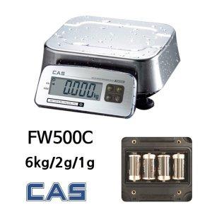 방수저울 6kg/2g/1g 고습한 창고 공장 FW500-6C 카스