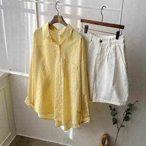 봄옷 스트라이프 줄무늬 셔츠 남방 여성 여자 루즈핏