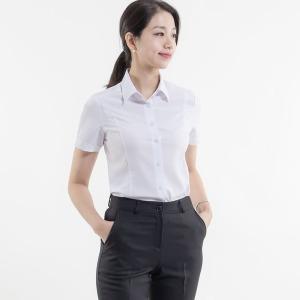 여성 반팔 슬림핏 셔츠 여자 빅사이즈 쉬폰 블라우스