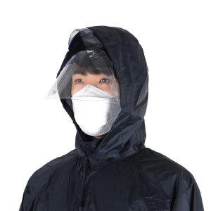 코트형 기본 우의 우비 KO-201 + 투명 안면 보호대