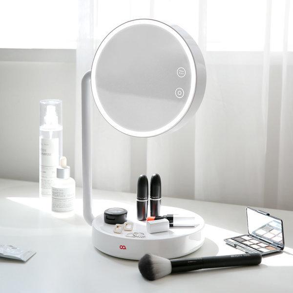 블링 LED 무선 탁상 조명 거울 화장대 스탠드 화이트