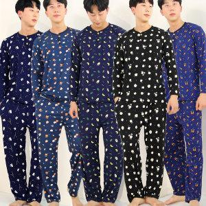 기모터치 DTY 남성 상하세트(L XL)잠옷 파자마 홈웨어