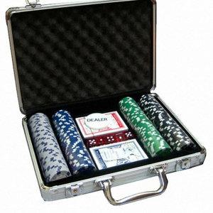 카지노세트 200p 투톤 포커 칩 룰렛 트럼프 카드 게임