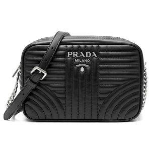 프라다  여성용  다이아그램 가죽 체인 크로스백 1BH083-2D91-F0633(블랙/엔
