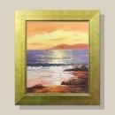 석양 바다그림 유화그림 인테리어 그림액자 12호/골드
