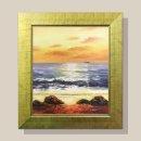 낙조 바다그림 유화그림 인테리어 그림액자 12호/골드