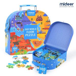 미디어   MIDEER   세계지도 퍼즐 놀이가방 100PCS