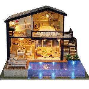 DIY 미니어처 하우스 만들기 수영장파티하우스 한글판
