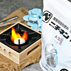 미니화로 고체연료 캠핑 착화제 1봉 4사이즈