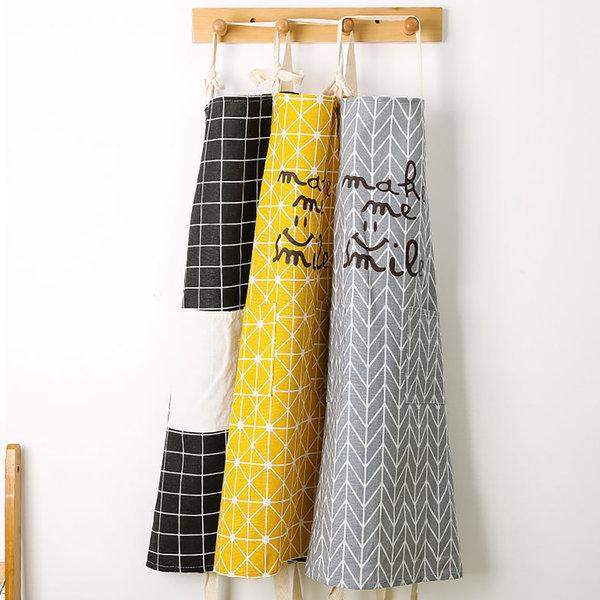 북유럽풍 패턴 주방 카페 공방 커플 앞치마 1+1