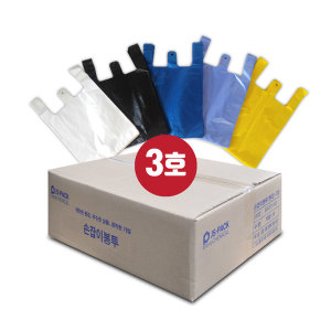 손잡이봉투 3호(대) 2000장(100매x20개) 23(33)x38cm