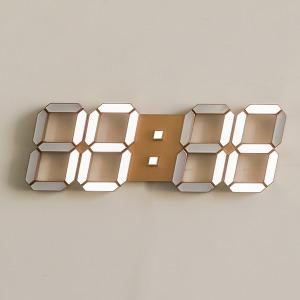 국산 3D LED 인테리어 벽시계 38cm 골드 / 포토사은품