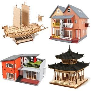 목재모형 만들기 모형조립 집모형 모던하우스