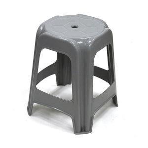 플라스틱 의자 사각 회색 간이의자 포장마차 캠핑