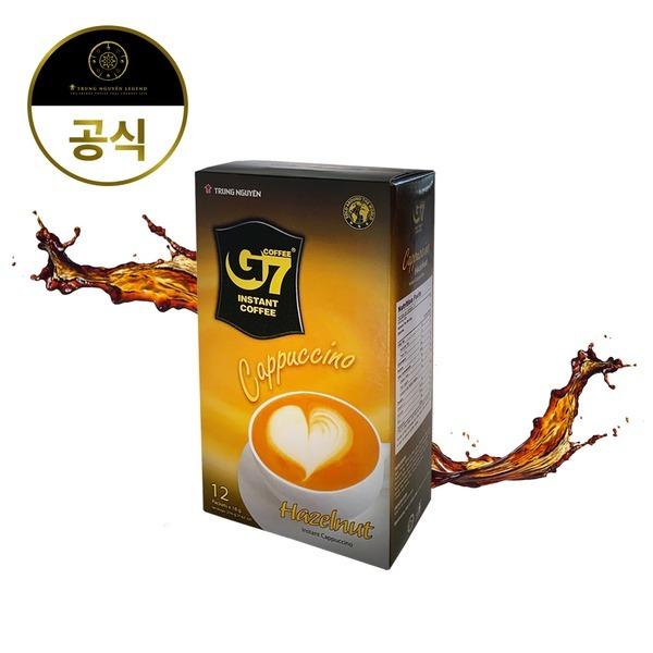 G7 수출용 베트남 커피믹스 카푸치노 헤이즐넛 12T