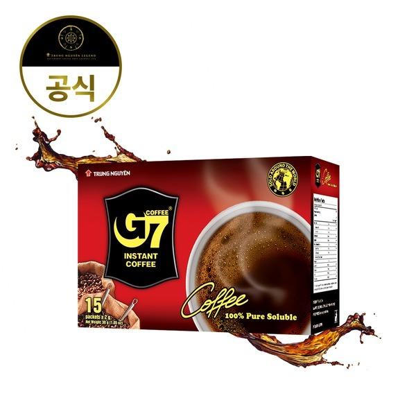 G7 블랙커피 30g 블랙2gx15T 베트남 커피