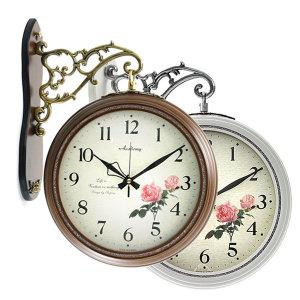 인테리어 양면 무소음벽시계 벽걸이시계 집들이선물