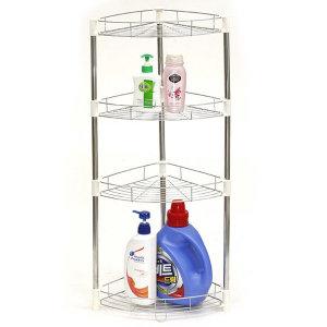 LUX 스텐 코너선반 4단(높은형)/욕실선반 다용도 수납