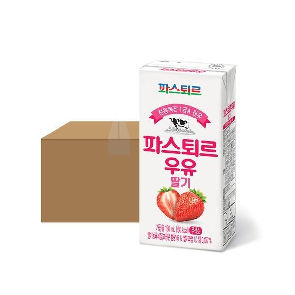 파스퇴르 전용목장 190mL 딸기우유 24입