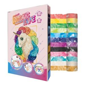 신우 모자이크 마스킹테이프 수채화 12색 엄마표 놀이