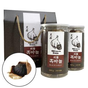 외톨 통 흑마늘 100% 발효 1kg 차마고도 선물용 세트
