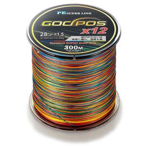 갓포스 PE 12 합사 (컬러)300m 낚시줄/합사줄 1.5-8호