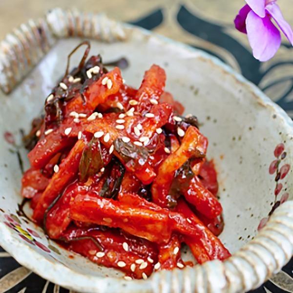 반찬 항아리식 무말랭이무침1kg 집밥