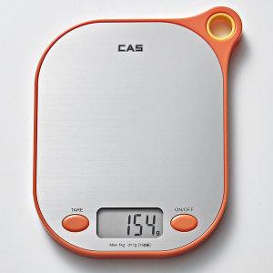 카스(CAS) 주방저울 KE-7000 최대1Kg(전자저울) 오렌지
