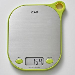 카스(CAS) 주방저울 KE-7000 최대1Kg(전자저울) 그린