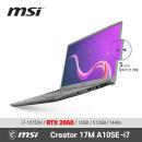 MSI Creator 17M A10SE-i7 / Win 10 / +마우스증정