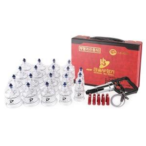 한솔 부항기/부황 19컵+펌프+연결줄 국내제조 부항기