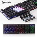 DDZONE LED 게이밍 키보드/예쁜/유선/자판/게임용