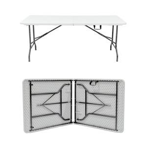 접이식4-6인용 브로몰딩 야외 행사 캠핑 테이블