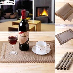 PVC 고급 테이블매트 플레이팅 접시 식탁매트 4p 세트