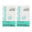2개 BioGaia 구강 유산균 프로덴티스 민트 오랄 프로바이오틱 30 로젠지